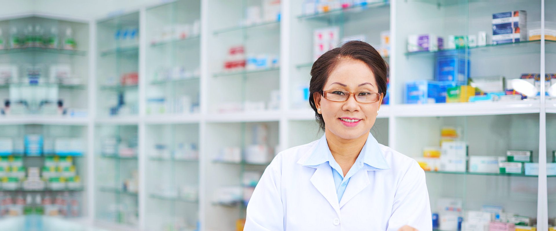 pharmacist showing her genuine smile