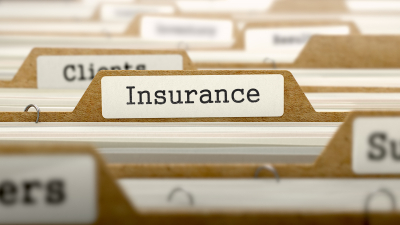 folders with insurance word